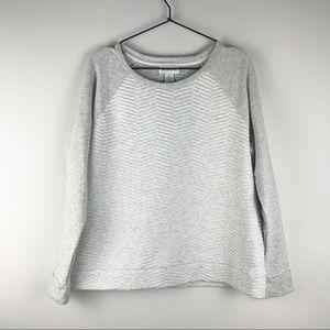 LIZ CLAIBORNE Quilted Chevron Raglan Sweatshirt
